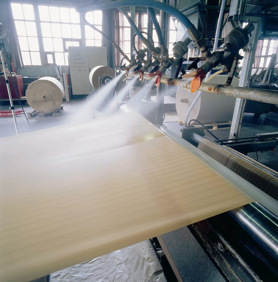 non-slip paper - production